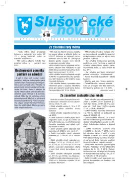 Slušovické noviny – č. 9-10/2010