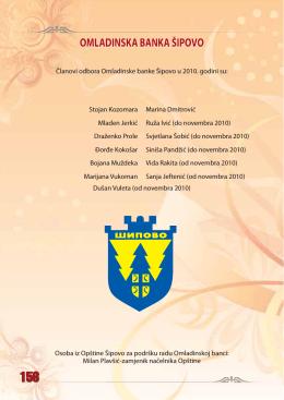 OMLADINSKA BANKA ŠIPOVO