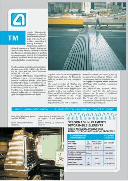 Algaflex TM dilatacije