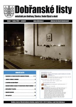 Dobřanské listy - leden 2012