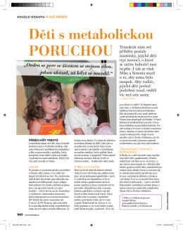 Děti s metabolickou - Národní sdružení PKU a jiných dědičných