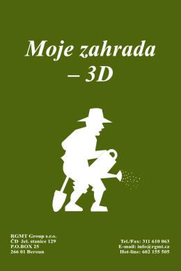 Manuál programu Moje zahrada - 3D verze 2009 ke stažení