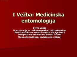 I Vežba: Medicinska entomologija