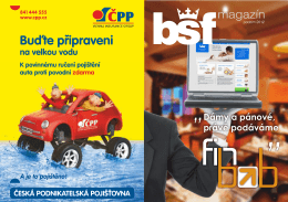 bsf magazin web - Bohemia Servis Finance as