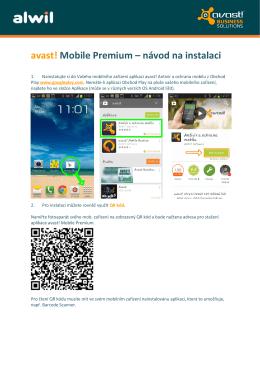 avast! Mobile Premium – návod na instalaci