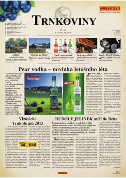 Pear vodka – novinka letošního léta