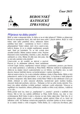 2015_unor 1097KB 28. 01. 2015 - Římskokatolická farnost Beroun