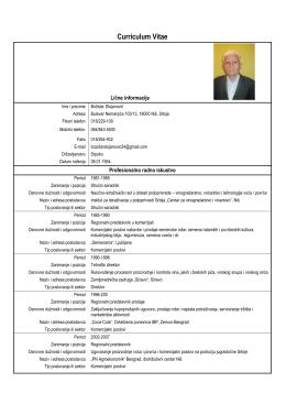 Kompletna radna biografija