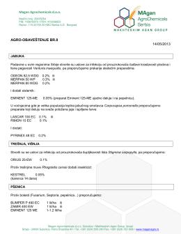 AGRO-OBAVESTENJE Br.8.pdf - Magan Agrochemicals Serbia