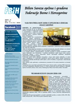 Bilten broj 146 - Savez općina i gradova Federacije BiH