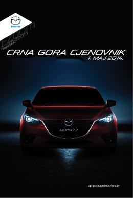 Cjenovnik - Mazda Crna Gora