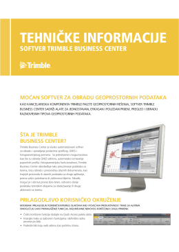 Trimble Business Center tehničke informacije