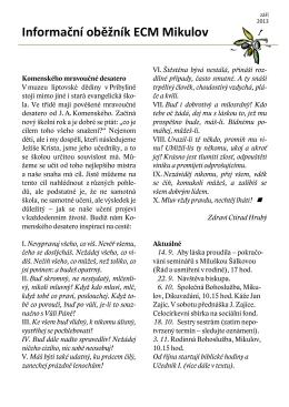 Sborový časopis 2013/09