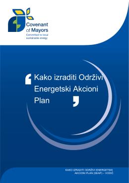 Kako izraditi Odrţivi Energetski Akcioni Plan