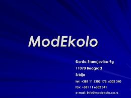 Prezentacija firme MODEKOLO