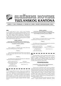 Službene novine Tuzlanskog kantona broj 4