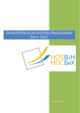 INDIKATIVNI PLAN RAZVOJA PROIZVODNJE 2013.-2022.