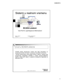 Sistemi u realnom vremenu - Vanr.prof.dr. Lejla Banjanović