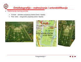 Ortofotografija – redresiranje i ortorektifikacija