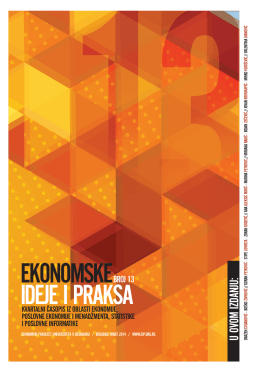 Ekonomske ideje i praksa broj 13 - Ekonomski fakultet