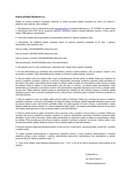 Interní předpis Bankerat a.s.