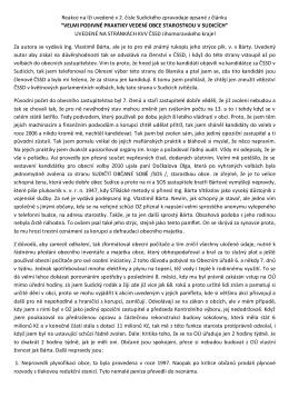 Reakce na lži uvedené v 2 čísle Sudického zpravodaje
