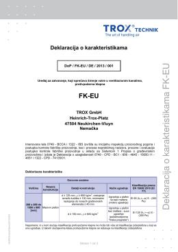 Deklaracija o karakteristikama FK-EU