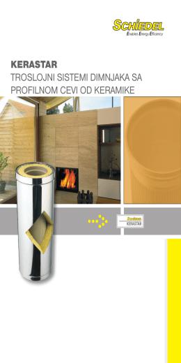 kerastar troslojni sistemi dimnjaka sa profilnom cevi od keramike