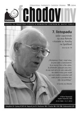 Fchodoviny 11/2014 - Komunitní centrum Matky Terezy