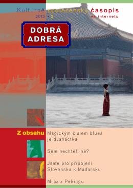 DA 02/2013 - Dobrá adresa
