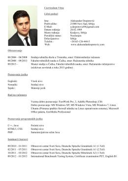 Web - Aleksandar Despotović, B.Sc.