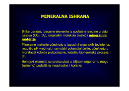 Mineralna ishrana 2