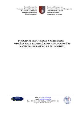 Preuzet - Direkcija za puteve Kantona Sarajevo