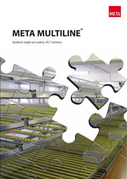 META MULTILINE® spádové regály - META skladovací technika, sro