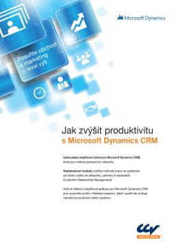 Produktový list Microsoft Dynamics CRM