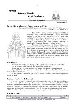 Říjen 2014 - Řád maltézských rytířů