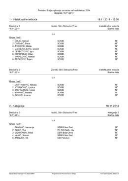 1 - Intelektualne teškoće 16.11.2014 - 12:00 2