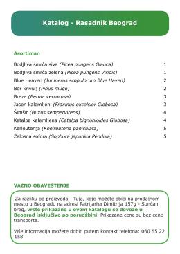 Katalog - Rasadnik Beograd