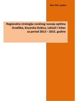 Nacrt regionalne strategije ruralnog razvoja opština Gradiška