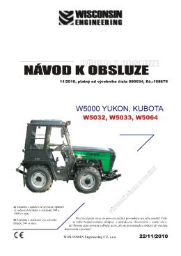 návod k obsluze traktoru W5032, W5033