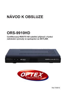 ORS-9910HD NÁVOD K OBSLUZE
