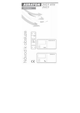 Manuál pro obsluhu termostatu Auraton 2025