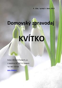 Domovský zpravodaj - Domov důchodců Šumperk