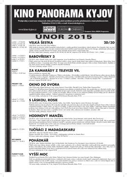 ÚNOR 2015 - Kino Panorama