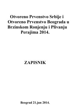 Prvenstvo Srbije i Beograda u PP i BR 2014