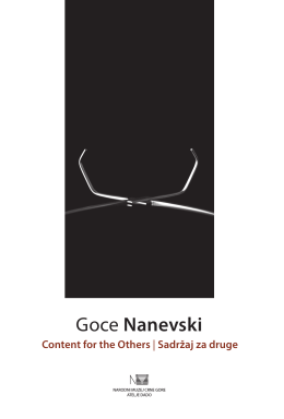 Goce Nanevski - GALERIJA ATELJE DADO