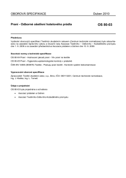 OS 80-03 Praní - Textilní zkušební ústav
