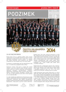firemní časopis prosinec 2014 / číslo 67