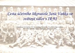 Válečný deník šikovatele Vaňka