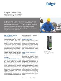 Dräger X-am® 2500 Víceplynový detektor